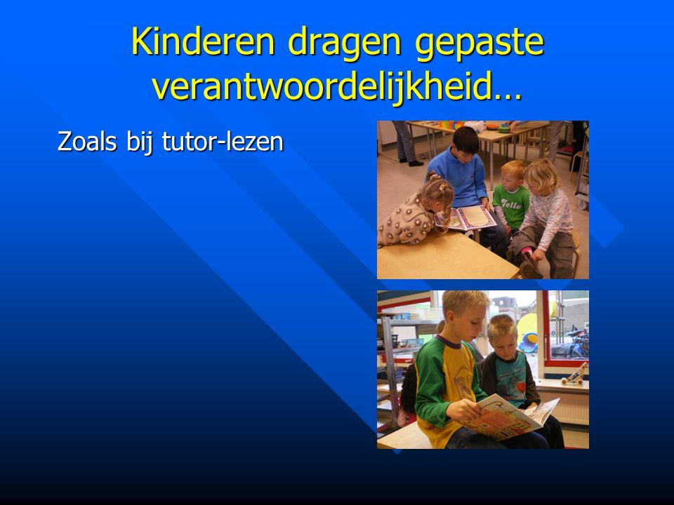 Kinderen dragen gepaste verantwoordelijkheid… Zoals bij tutor-lezen