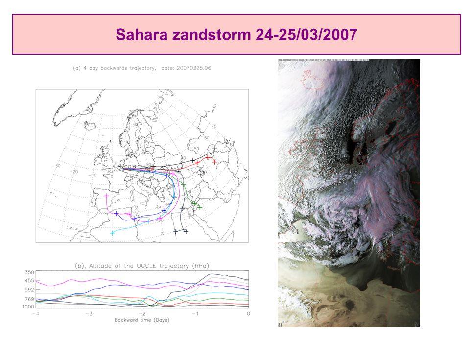 Sahara zandstorm 24-25/03/2007