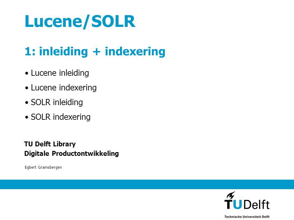Wat is Lucene.