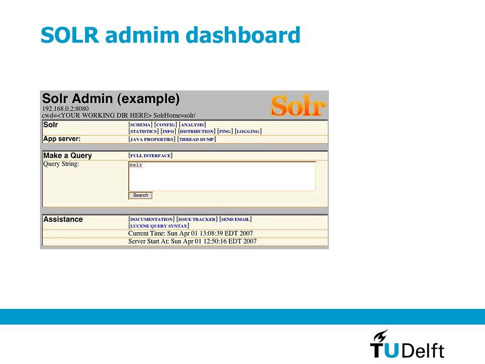 SOLR admim dashboard