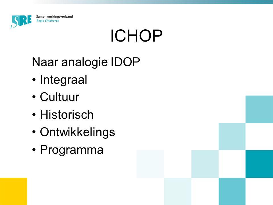 ICHOP Naar analogie IDOP Integraal Cultuur Historisch Ontwikkelings Programma