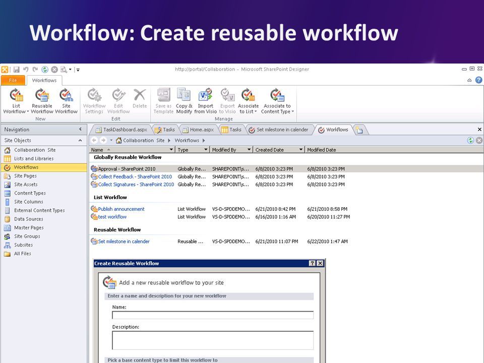 Workflow: Create reusable workflow