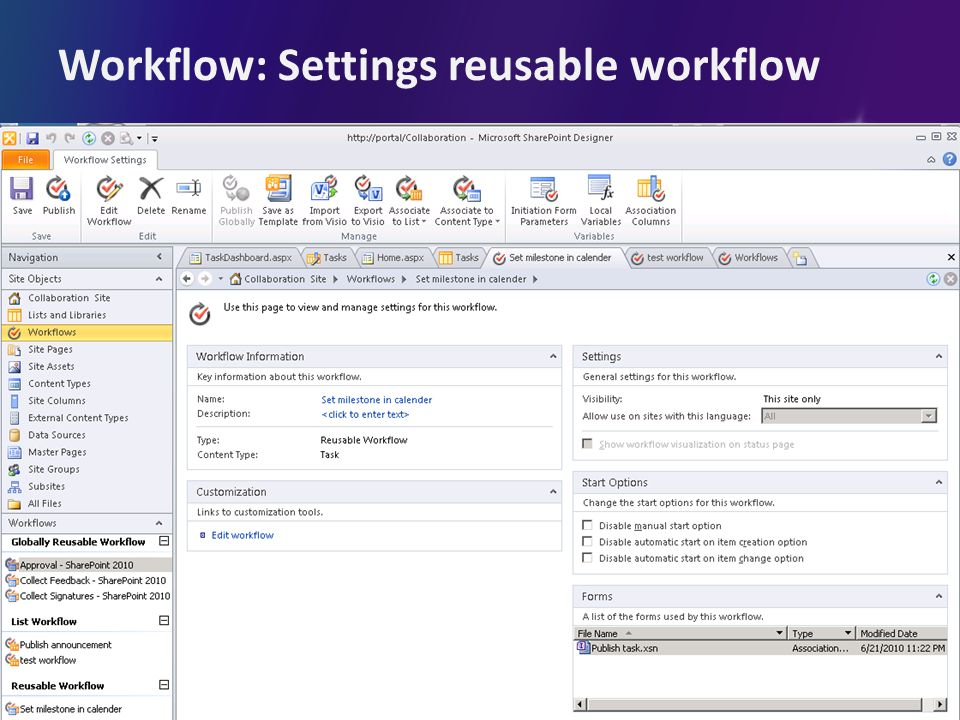Workflow: Settings reusable workflow