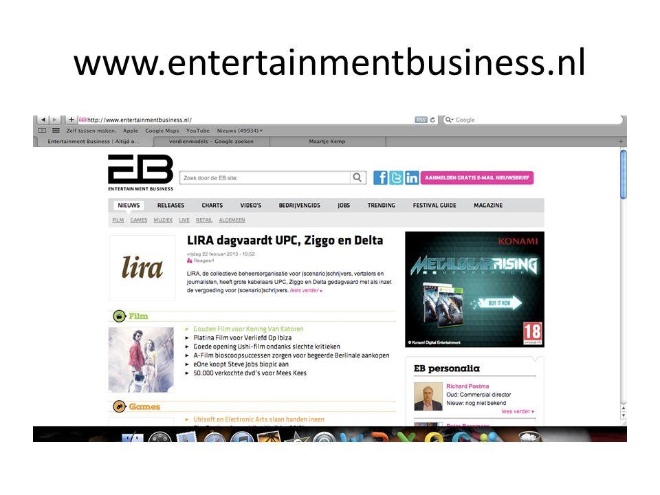 Verdienmodel op de site Wat je op de site ziet is de reclame rondom.