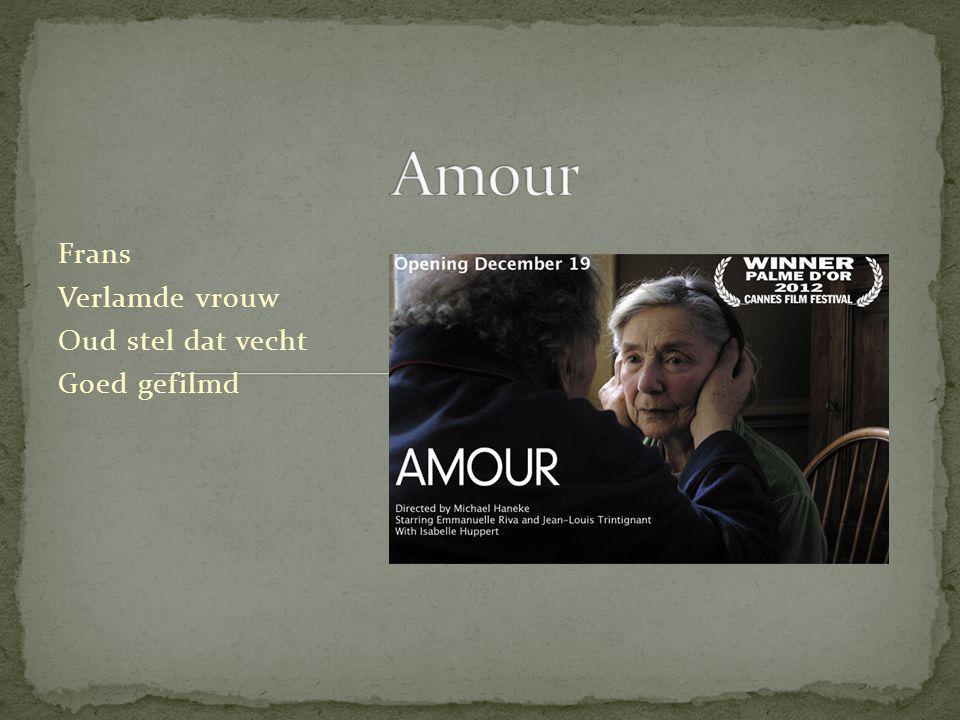 Frans Verlamde vrouw Oud stel dat vecht Goed gefilmd