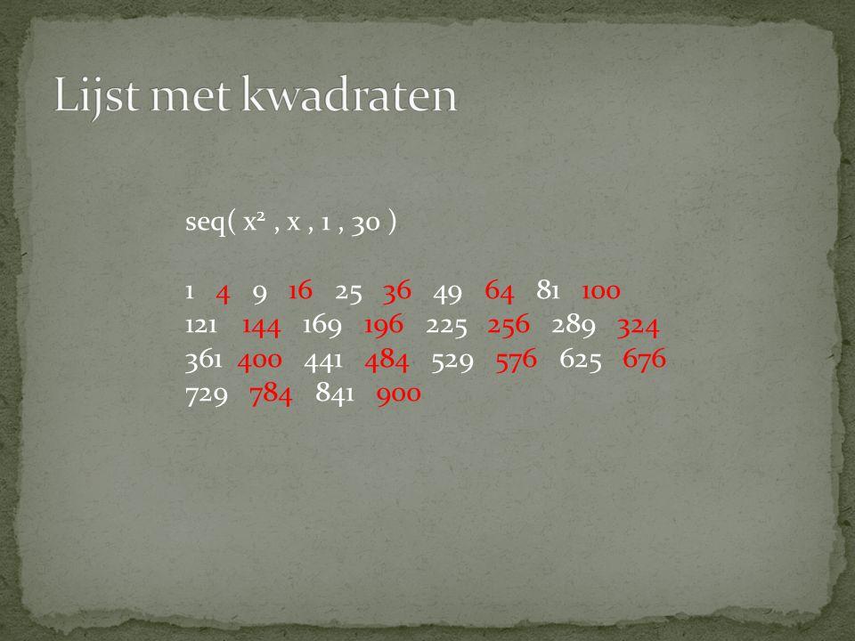 Het kwadraat van een oneven getal (2v) 2 = 4v 2 = 4v' (2v + 1) 2 = 4v 2 + 4v + 1 = 4v' + 1 Het kwadraat van een even getal is een viervoud is een viervoud + 1