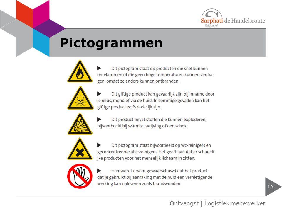 Pictogrammen 16 Ontvangst | Logistiek medewerker