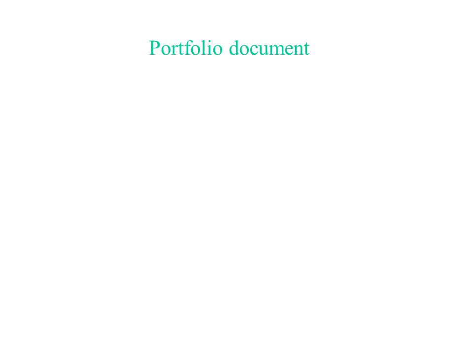 Portfolio document