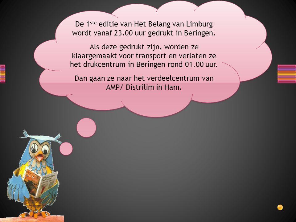 De 1 ste editie van Het Belang van Limburg wordt vanaf 23.00 uur gedrukt in Beringen.