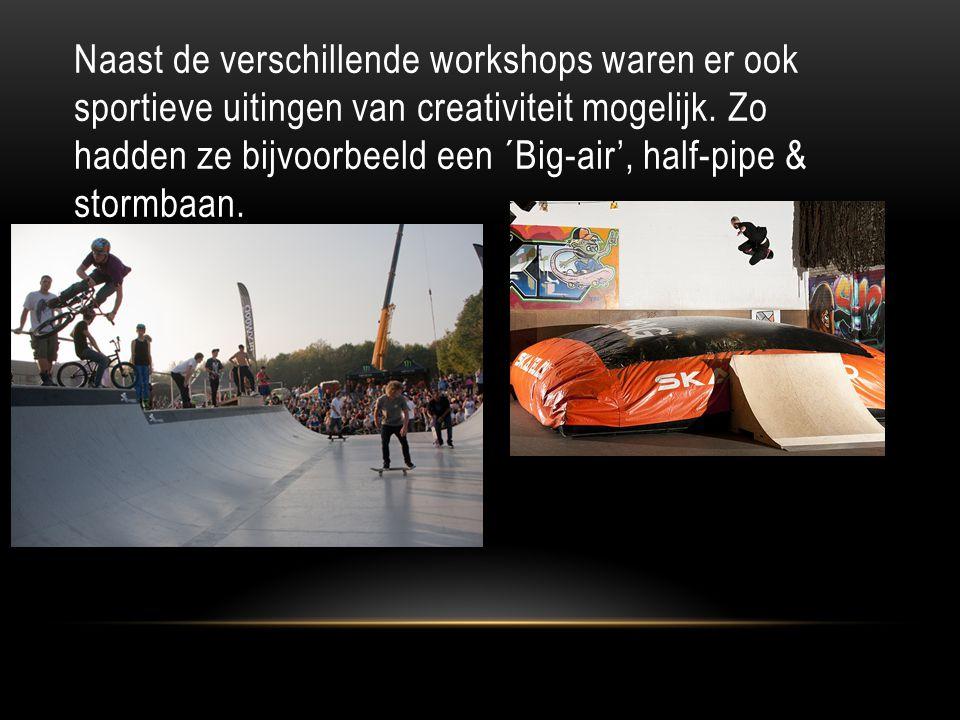 Naast de verschillende workshops waren er ook sportieve uitingen van creativiteit mogelijk.