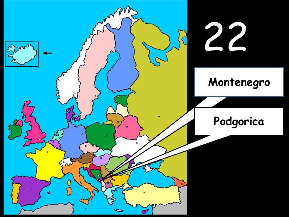 22 Podgorica Montenegro