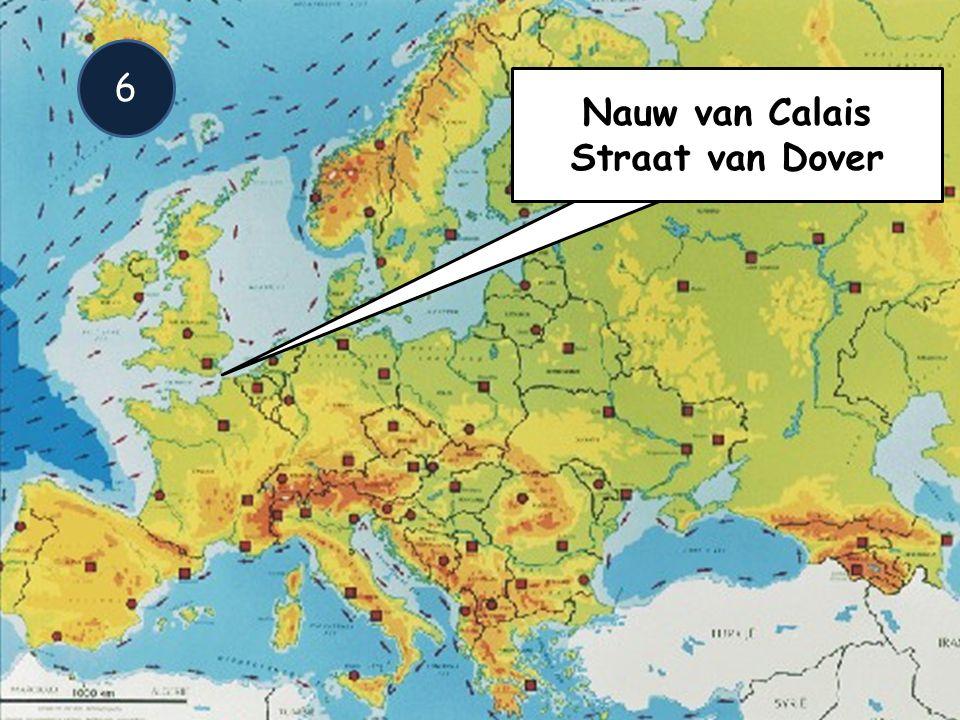 Straat van Dover Nauw van Calais 6 Nauw van Calais Straat van Dover
