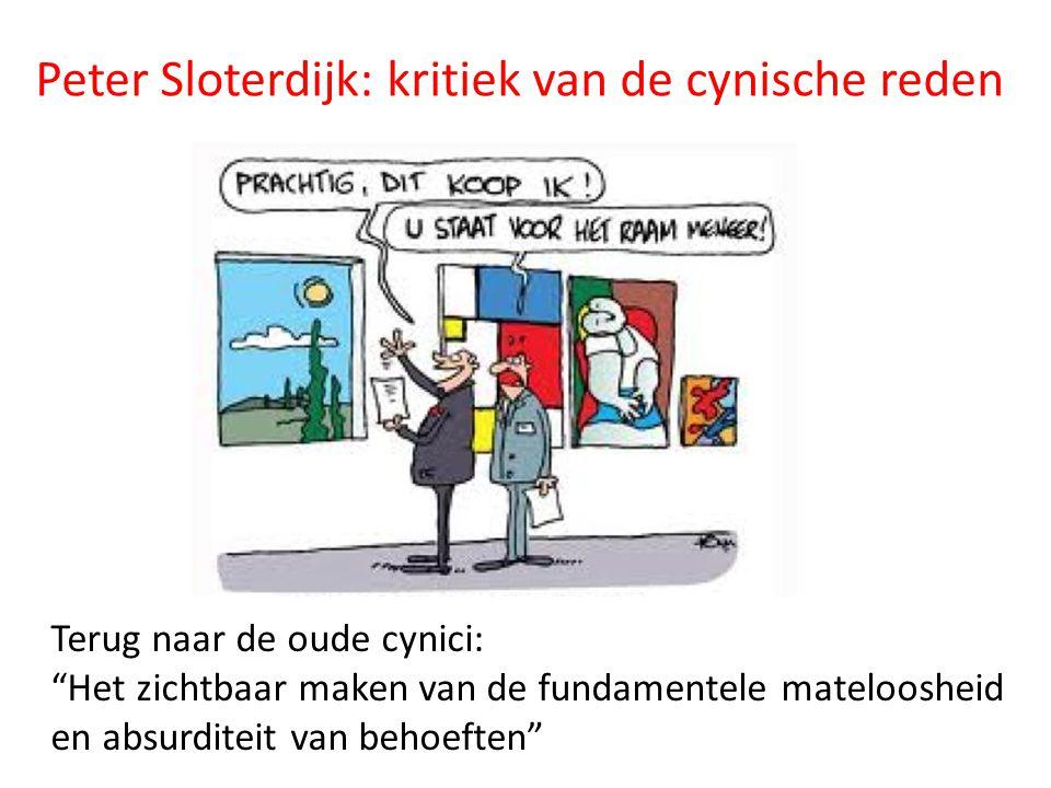 """Peter Sloterdijk: kritiek van de cynische reden Terug naar de oude cynici: """"Het zichtbaar maken van de fundamentele mateloosheid en absurditeit van be"""