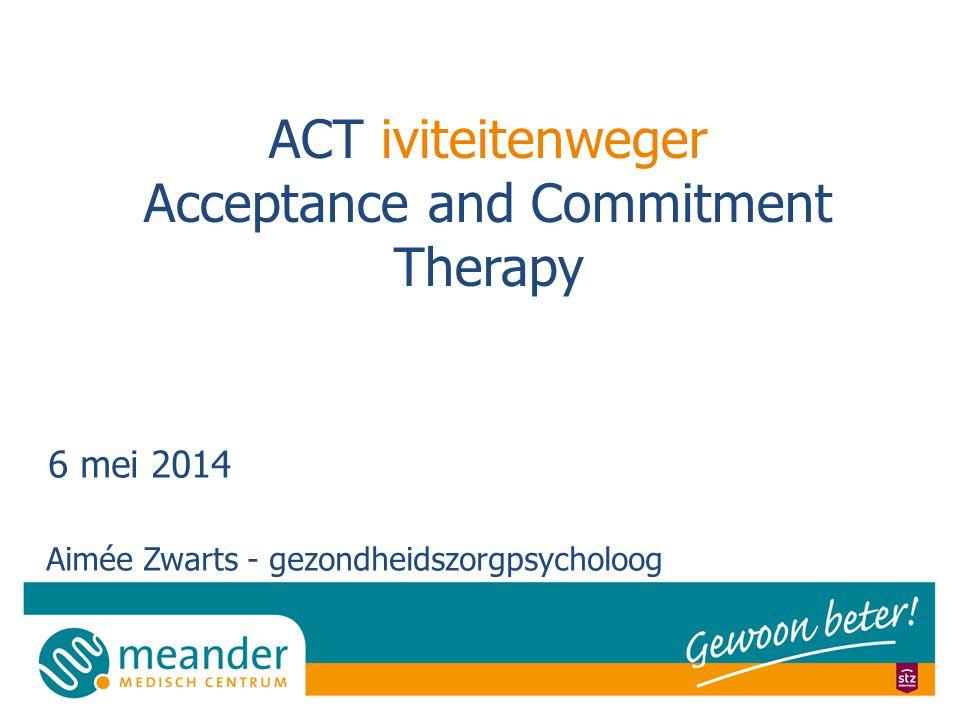 ACT iviteitenweger Acceptance and Commitment Therapy 6 mei 2014 Aimée Zwarts - gezondheidszorgpsycholoog