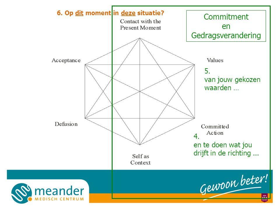 Commitment en Gedragsverandering 4.en te doen wat jou drijft in de richting...