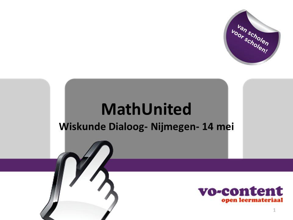 MathUnited Wiskunde Dialoog- Nijmegen- 14 mei 1