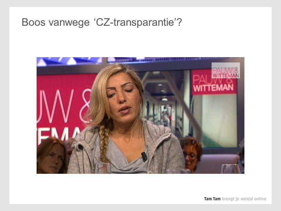 Boos vanwege 'CZ-transparantie'? Of juist zeer alert vanwege patiënt-transparantie?