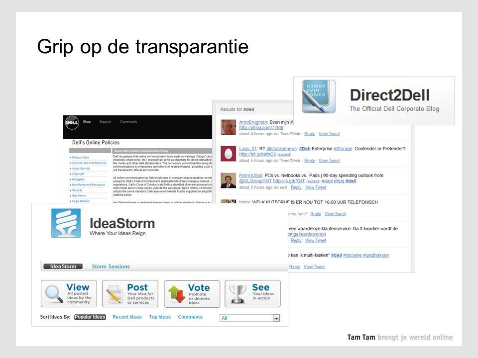 Grip op de transparantie