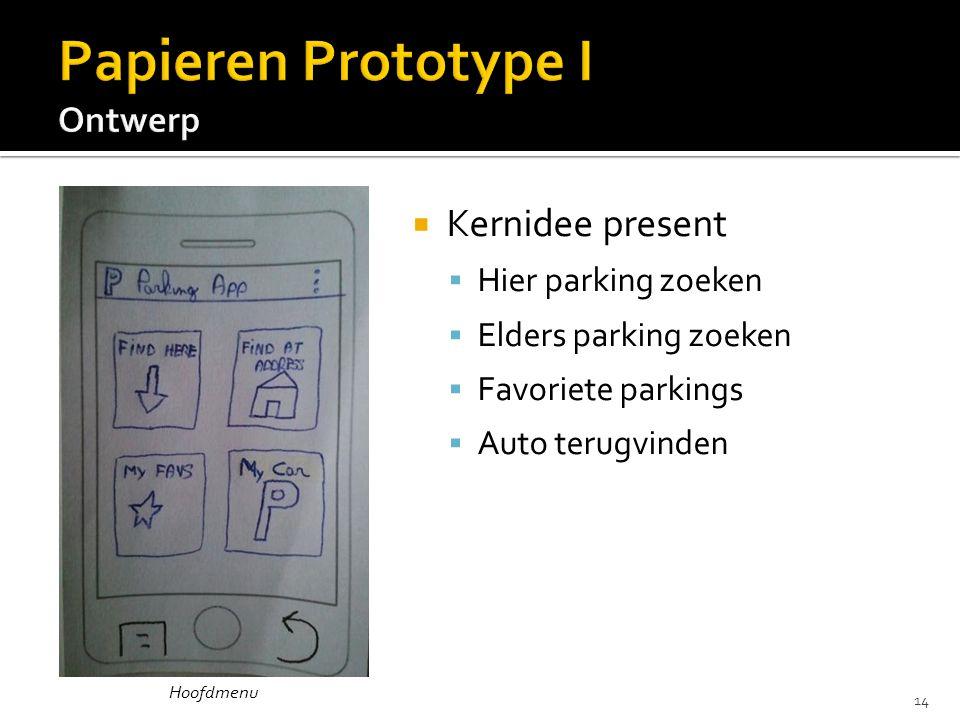  Kernidee present  Hier parking zoeken  Elders parking zoeken  Favoriete parkings  Auto terugvinden Hoofdmenu 14