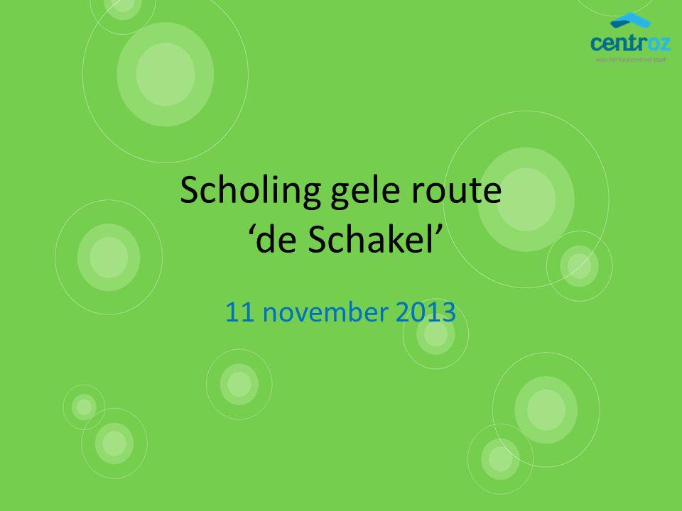 Scholing gele route 'de Schakel' 11 november 2013