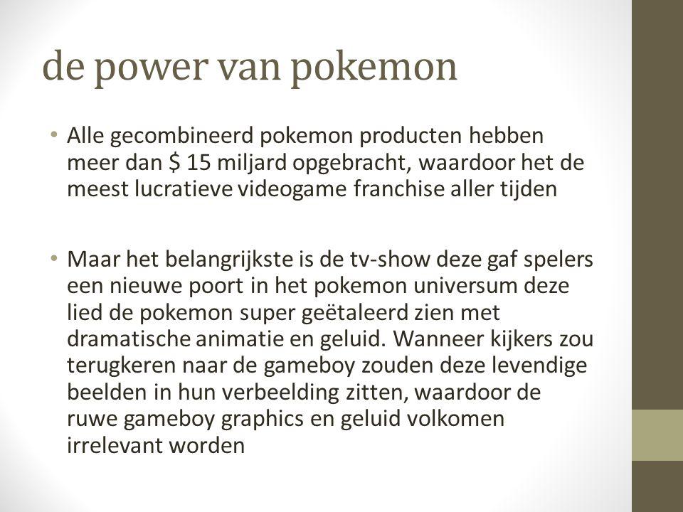 de power van pokemon Alle gecombineerd pokemon producten hebben meer dan $ 15 miljard opgebracht, waardoor het de meest lucratieve videogame franchise