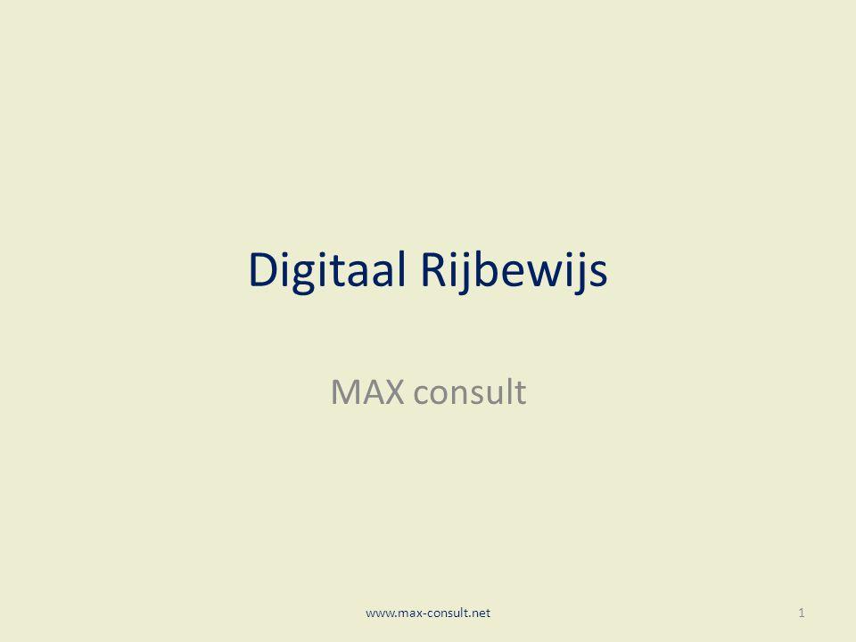 Digitaal Rijbewijs MAX consult www.max-consult.net1