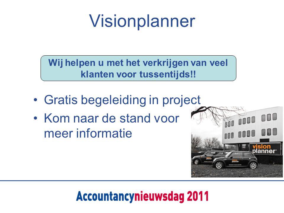 Visionplanner Gratis begeleiding in project Kom naar de stand voor meer informatie Wij helpen u met het verkrijgen van veel klanten voor tussentijds!!