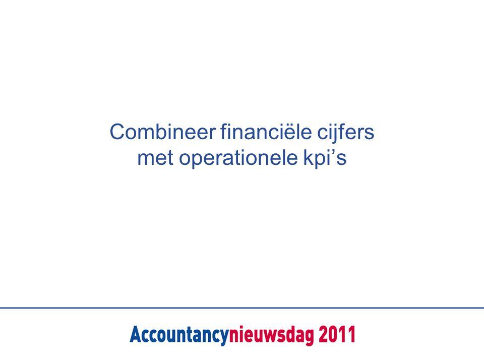 Combineer financiële cijfers met operationele kpi's