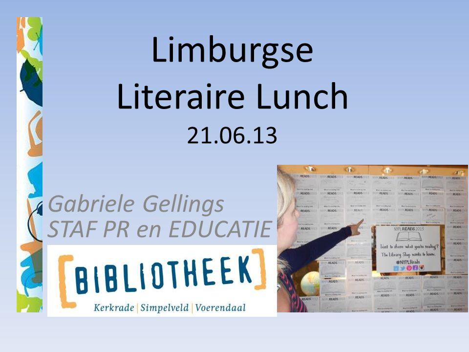 Limburgse Literaire Lunch 21.06.13 Gabriele Gellings STAF PR en EDUCATIE