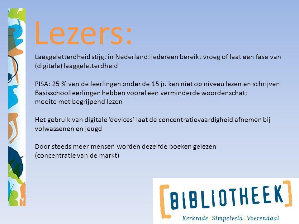 Lezers: Laaggeletterdheid stijgt in Nederland: iedereen bereikt vroeg of laat een fase van (digitale) laaggeletterdheid PISA: 25 % van de leerlingen o
