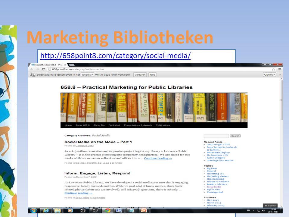 Marketing Bibliotheken http://658point8.com/category/social-media/