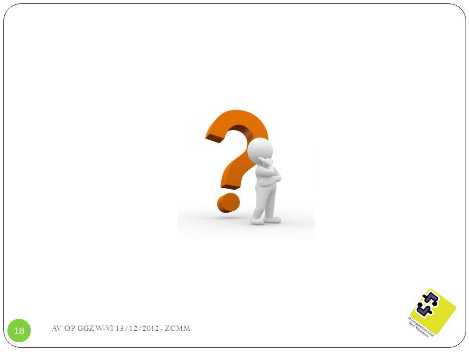 AV OP GGZ W-Vl 13/12/2012 - ZCMM 18