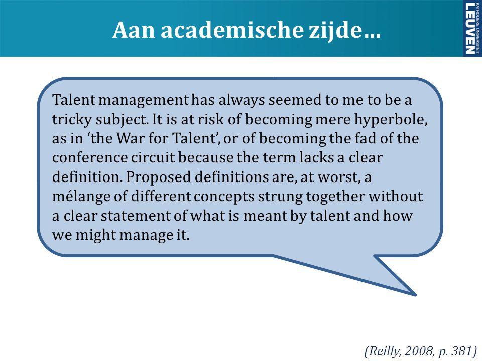 y 1.Wat is talent voor ons (niet). Aard  persoon vs.