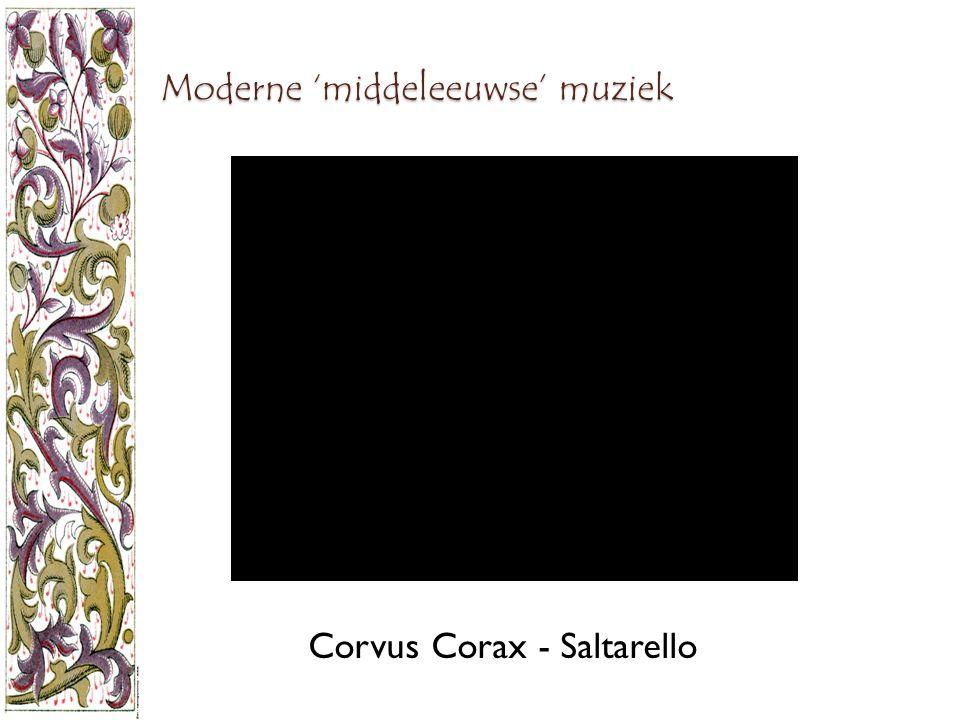 Moderne 'middeleeuwse' muziek Corvus Corax - Saltarello