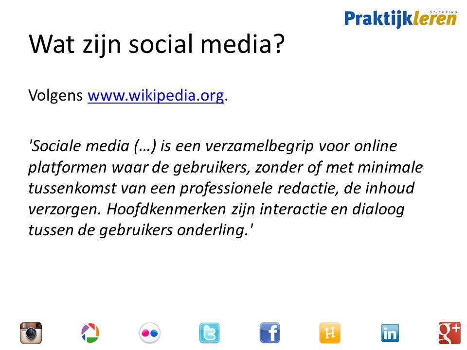 Wat zijn social media.