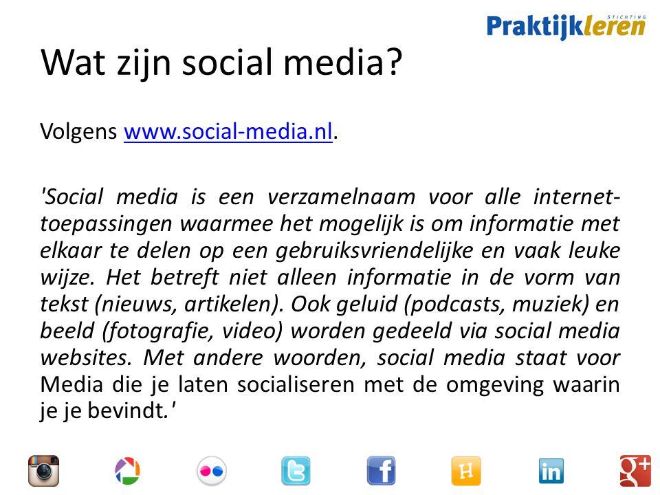 Opbouw behoefteanalyse Knelpunten – Wat zijn knelpunten waarbij de inzet van social media kan helpen.