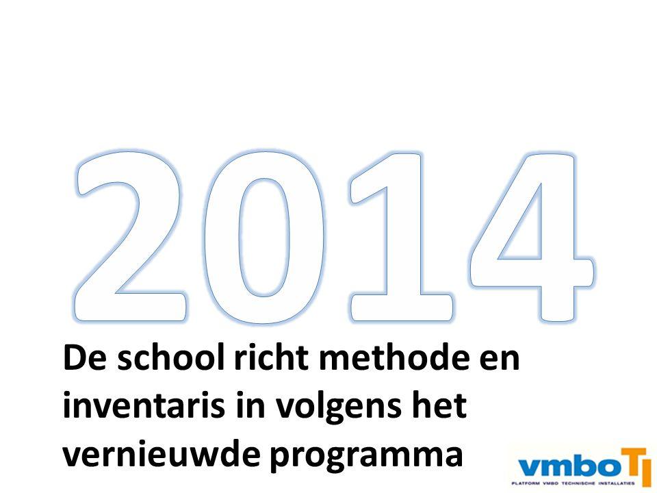 Instroom 3 e jaar vmbo Examen vmbo –> doorstroom mbo Examen mbo n2 –> arbeidsmarkt De school richt methode en inventaris in volgens het vernieuwde pro