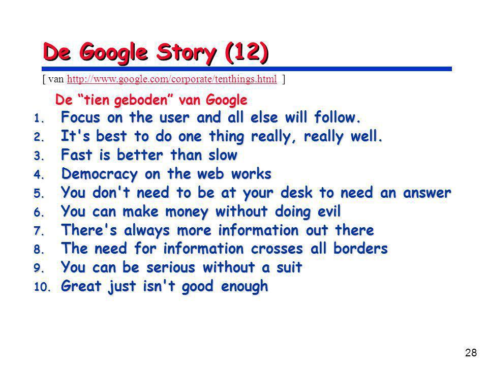 28 De Google Story (12) De tien geboden van Google 1.