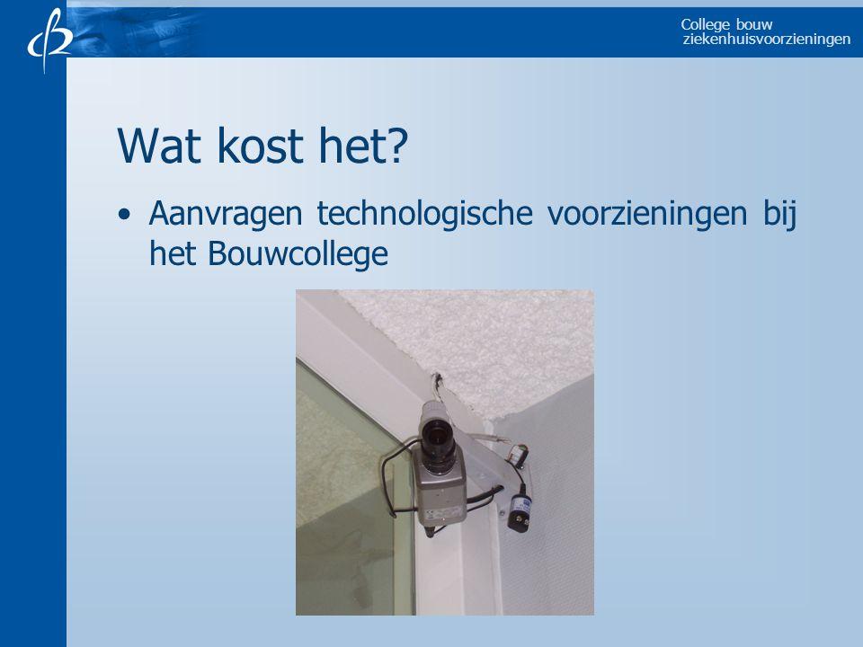 College bouw ziekenhuisvoorzieningen Wat kost het.