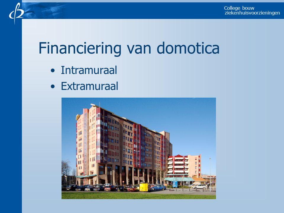 College bouw ziekenhuisvoorzieningen Financiering van domotica Intramuraal Extramuraal