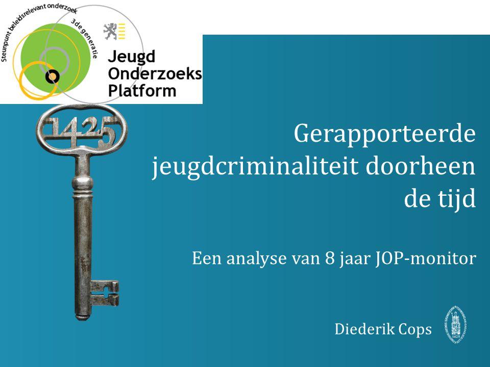 Gerapporteerde jeugdcriminaliteit doorheen de tijd Een analyse van 8 jaar JOP-monitor Diederik Cops