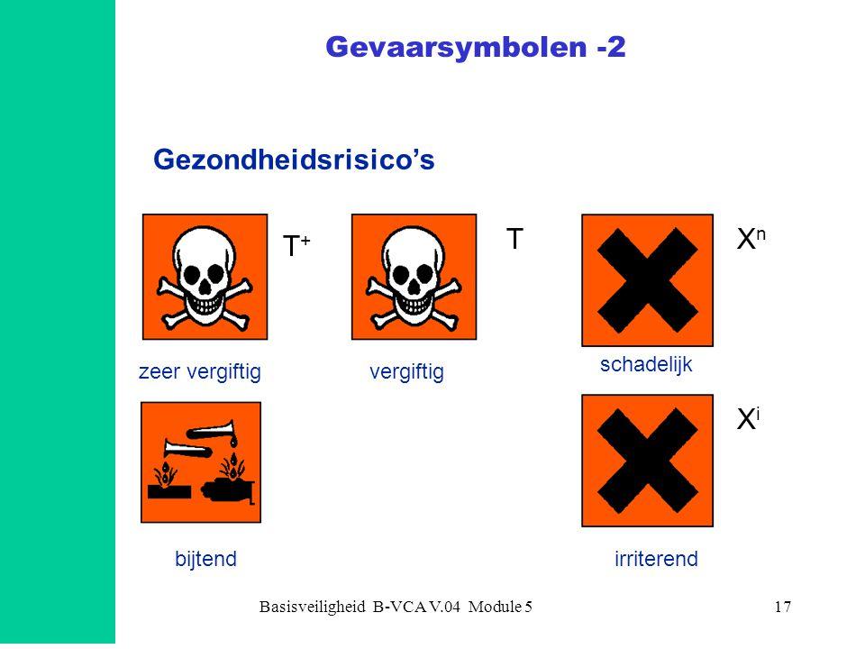 Basisveiligheid B-VCA V.04 Module 518 Risico's voor het milieu Milieugevaarlijk Gevaarsymbolen -3
