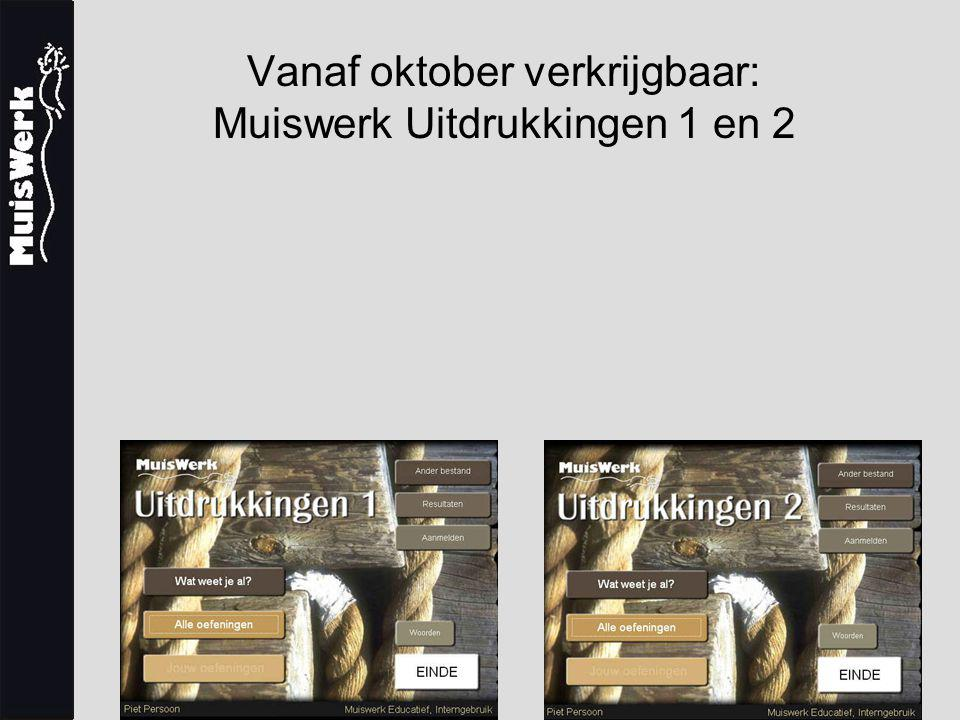Vanaf oktober verkrijgbaar: Muiswerk Uitdrukkingen 1 en 2