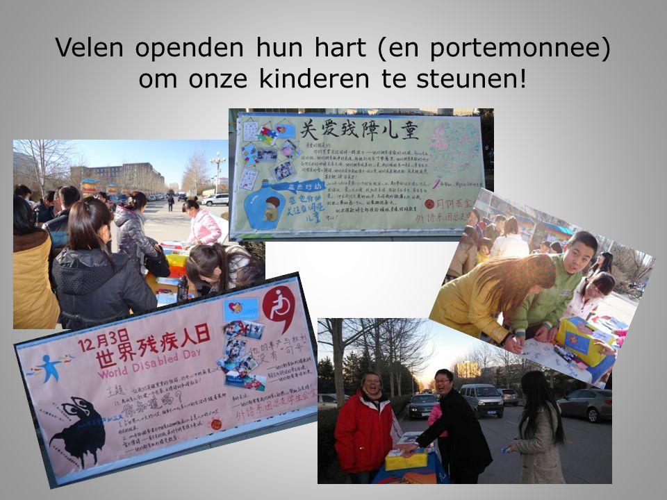 Velen openden hun hart (en portemonnee) om onze kinderen te steunen!