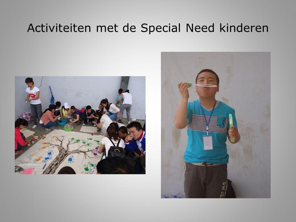 Activiteiten met de Special Need kinderen