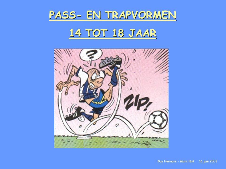 PASS- EN TRAPVORMEN 14 TOT 18 JAAR Guy Hermans – Marc Noé 16 juni 2003