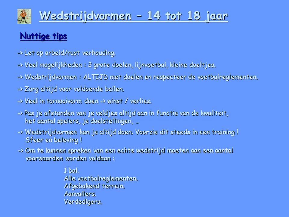 Nuttige tips -> Let op arbeid/rust verhouding.