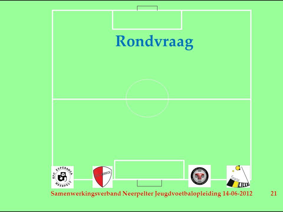Samenwerkingsverband Neerpelter Jeugdvoetbalopleiding 14-06-2012 21 Rondvraag