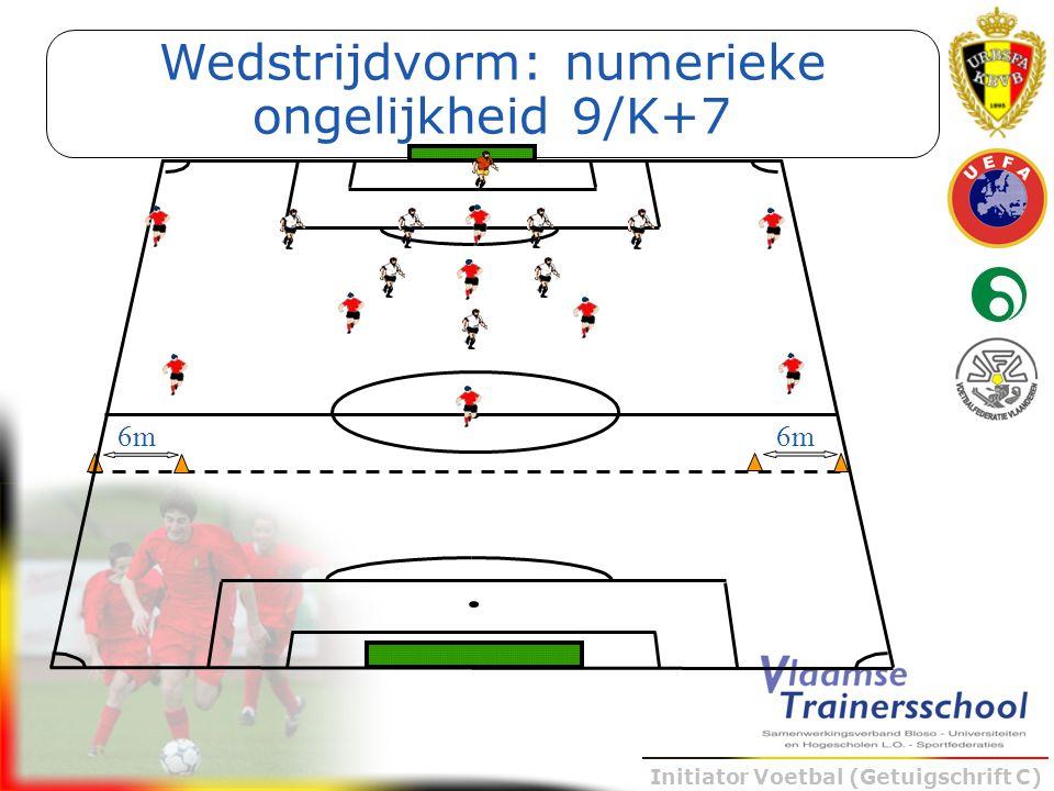 Initiator Voetbal (Getuigschrift C) Wedstrijdvorm: numerieke ongelijkheid 9/K+7 6m