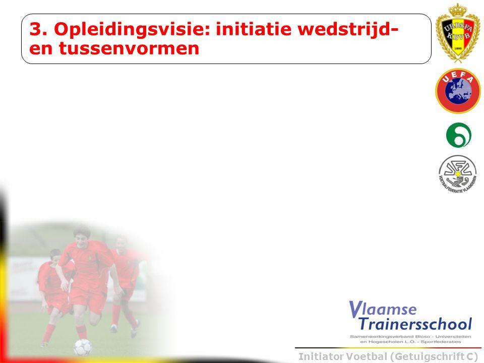 Initiator Voetbal (Getuigschrift C) 3. Opleidingsvisie: initiatie wedstrijd- en tussenvormen